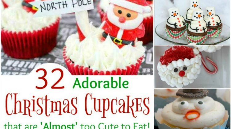 32 Adorable Christmas Cupcakes that are 'Almost' too Cute to Eat!
