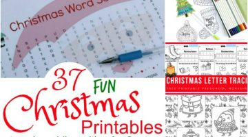 37 Fun Christmas Printables to Enjoy While Waiting for Santa