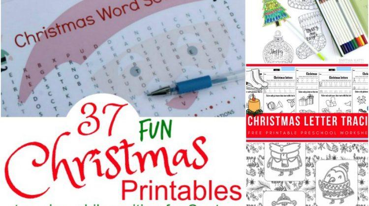 37 Fun Christmas Printables to Enjoy While Waiting on Santa