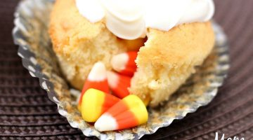 Candy Corn Filled Cupcakes
