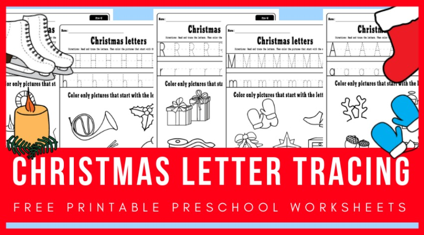 Christmas Letter Tracing Worksheets
