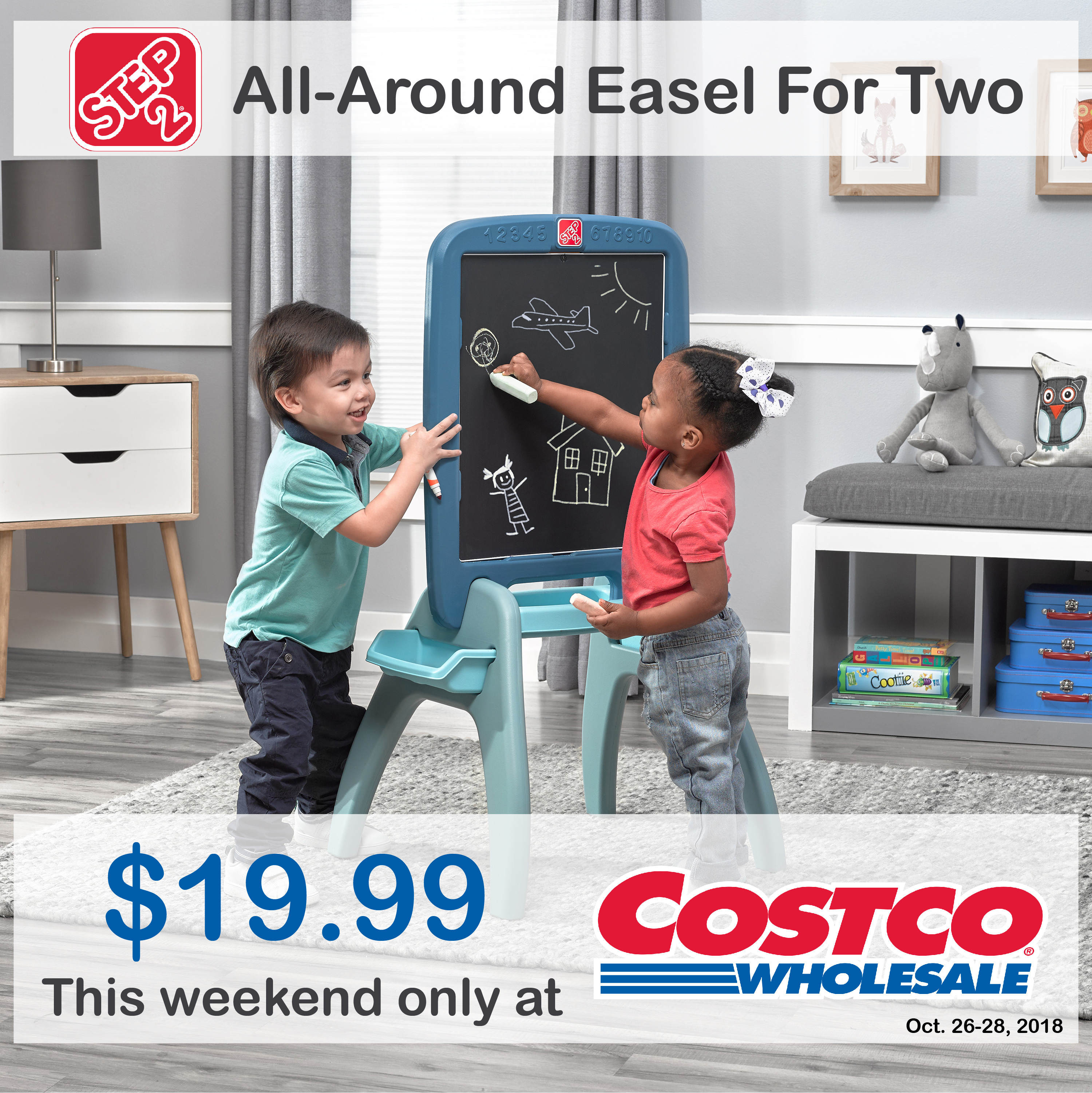 #Win Step2 All Around Easel, the My First Advent Calendar, plus a $50 Costco Cash Card!