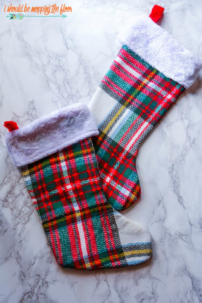 DIY Blanket Scarf Stocking