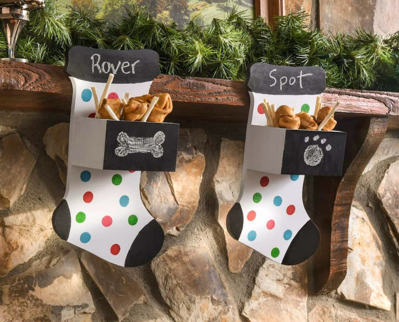 DIY Wood Christmas Stockings