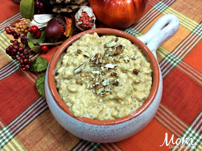 Instant Pot Pumpkin maple pecan steel oats oatmeal