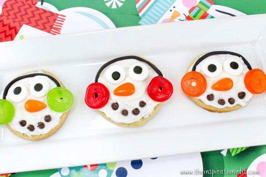 Super Fun Snowman Sugar Cookies