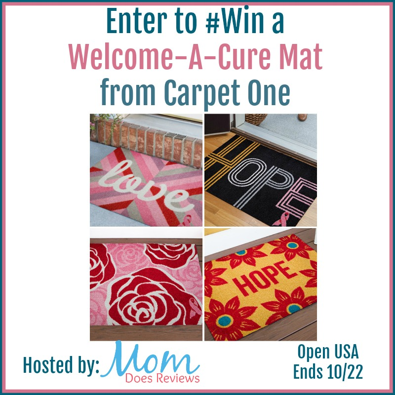 Win a Welcome A Cure Mat from Carpet One