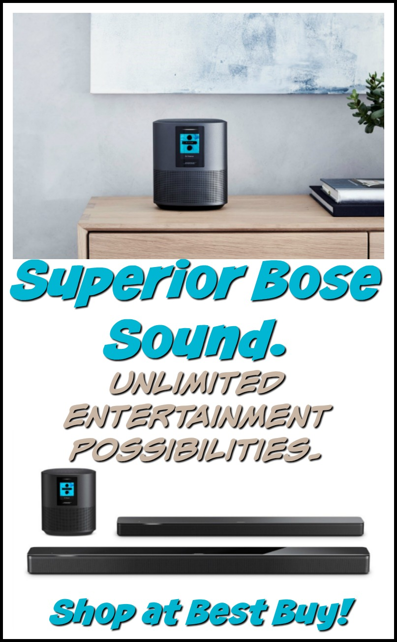 Superior Bose sound. Unlimited entertainment possibilities. #bosesmartspeakersatbestbuy #ad #bestbuy #technology