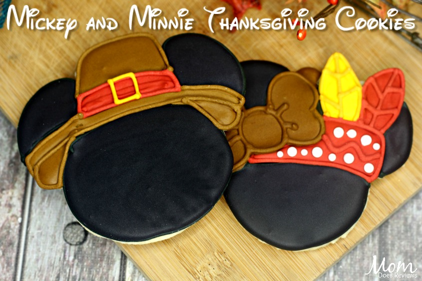 Mickey and Minnie Thanksgiving Sugar Cookies