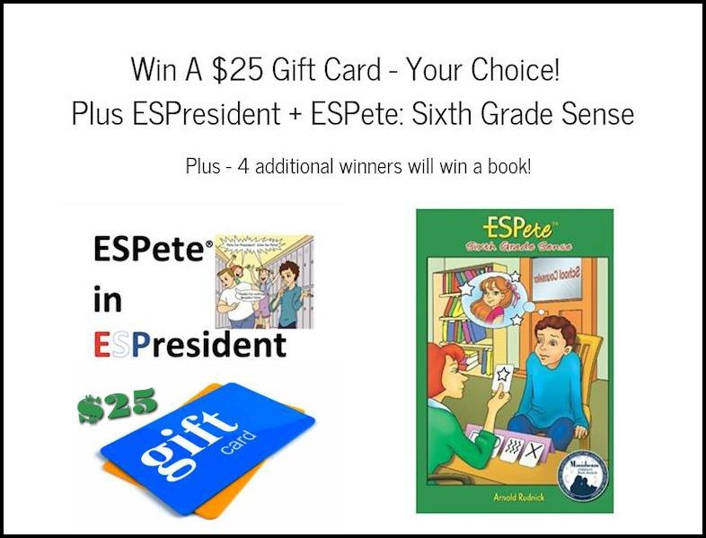 #Win $25 Gift Card + ESPete: Sixth Grade Sense & ESPresident