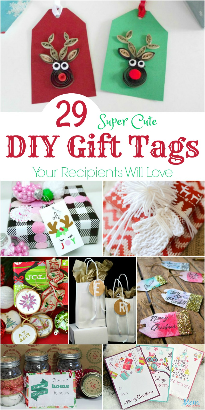 29 Super Cute DIY Gift Tags Your Recipients Will Love #DIY #Gifts #Christmas #crafts