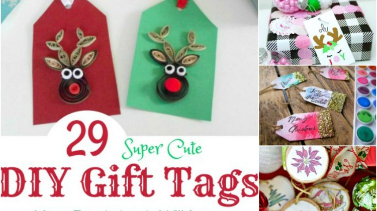 29 Super Cute DIY Gift Tags Your Recipients Will Love