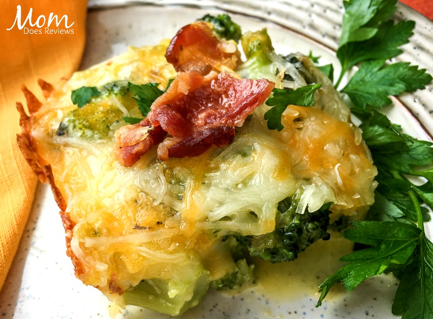 Bacon Cheddar Broccoli Breakfast Casserole