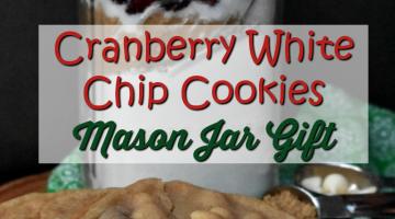 Cranberry White Chip Cookies Mason Jar Gift