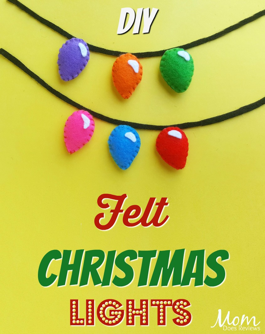 Felt Christmas Lights Craft #diy #crafts #christmas