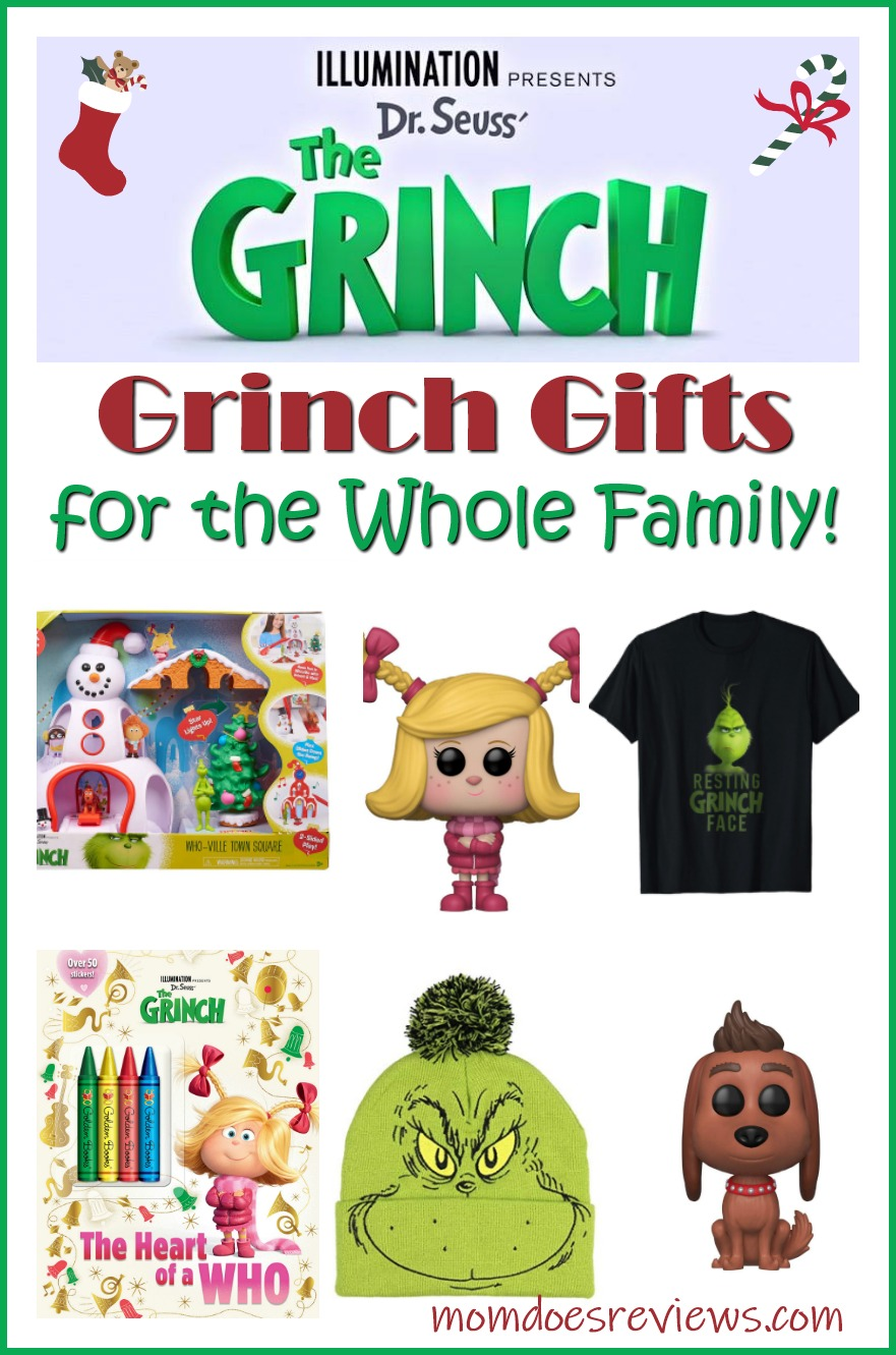 Grinch Gifts for the Whole Family #theGrinch #christmas #gifts #giftideas