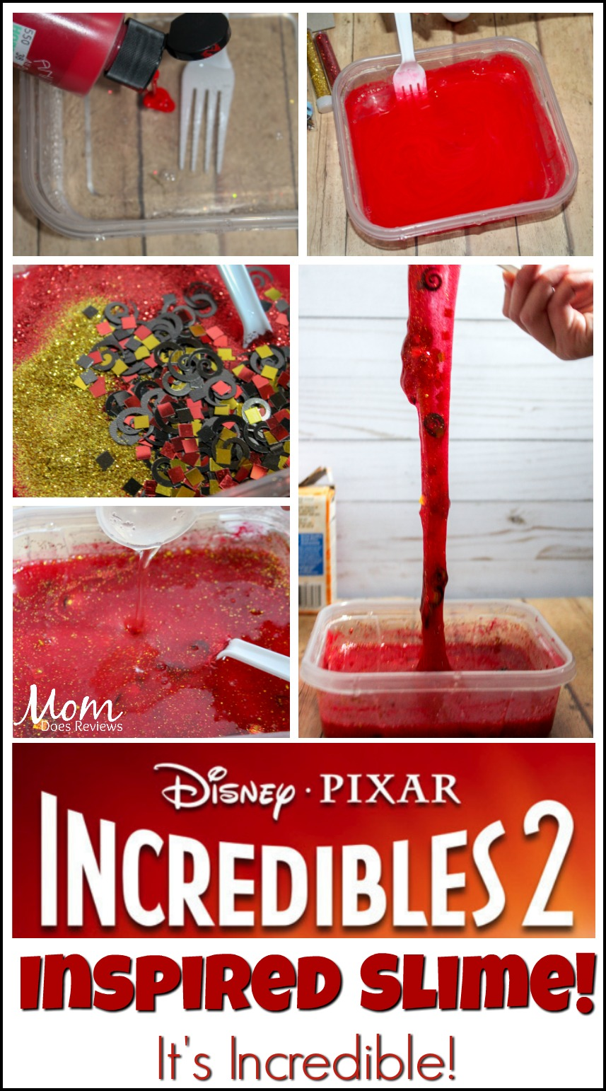 Incredible Inspired Slime #craft #incredibles2 #slime #funstuff