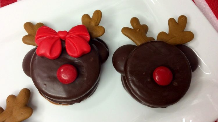 Mickey and Minnie Rudolph Cookies