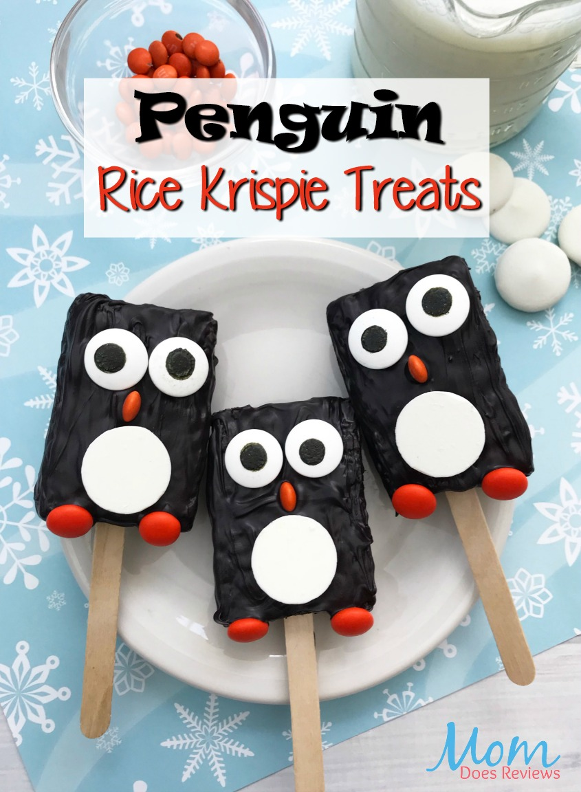 Penguin Rice Krispie Treats #desserts #funfood #sweets #treats