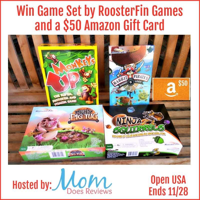 Win Game Set by RoosterFin Games and $50 Amazon Gift Card