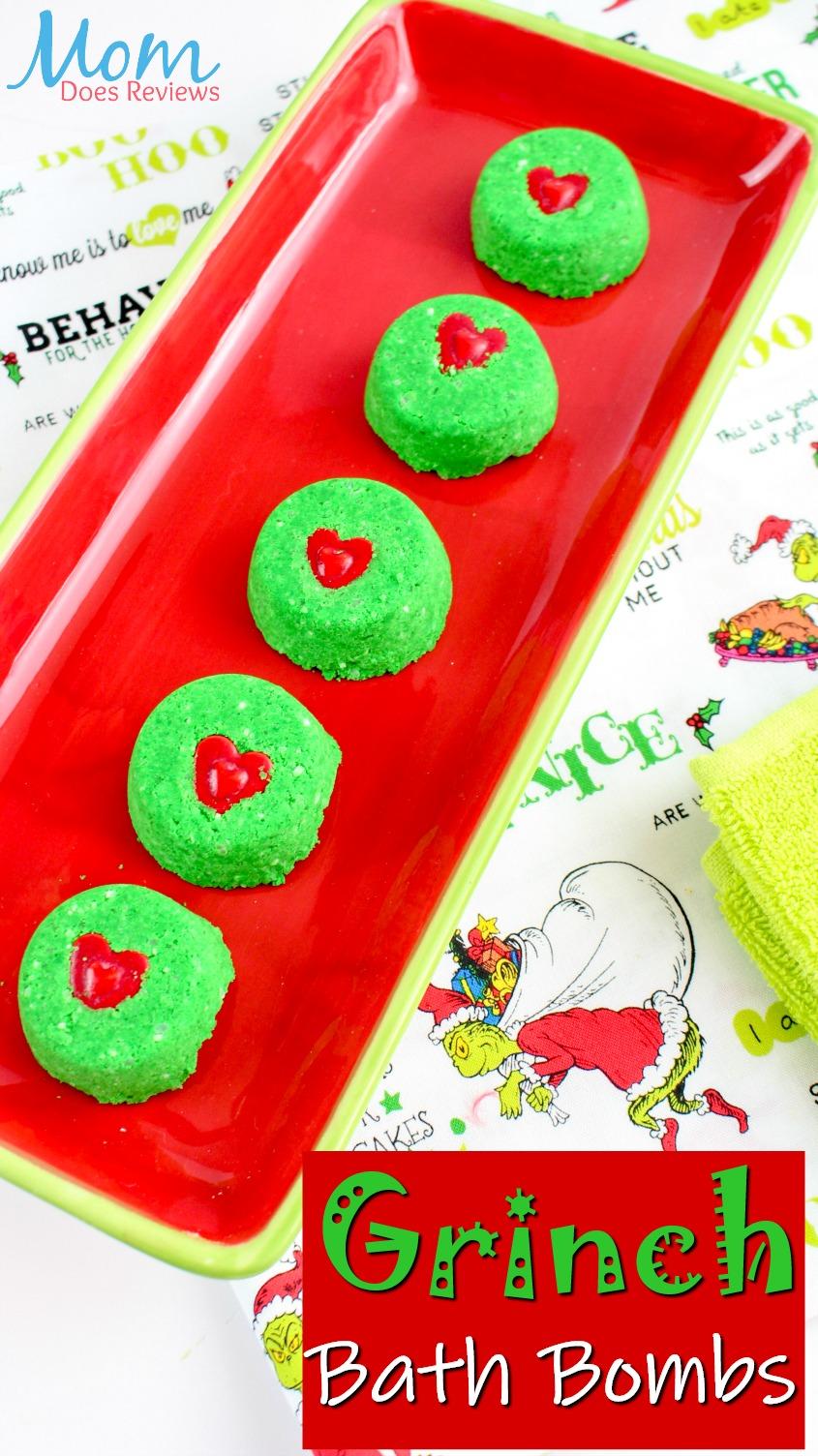 Grinch Bath Bombs #DIY #Crafts #bathbombs #essentialoils #thegrinch