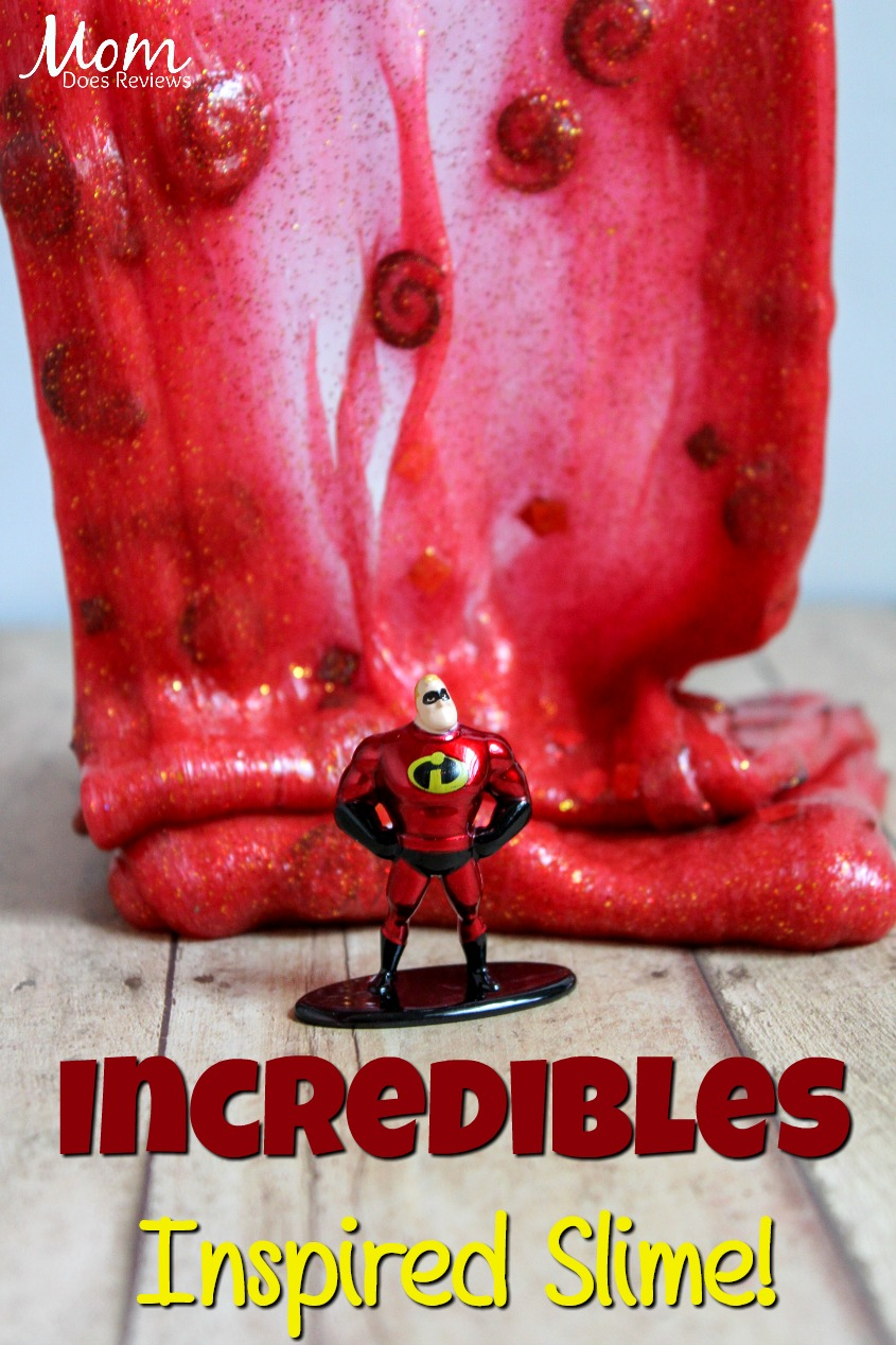 Incredibles Inspired Slime! #Incredibles2 #crafts #funstuff #slime