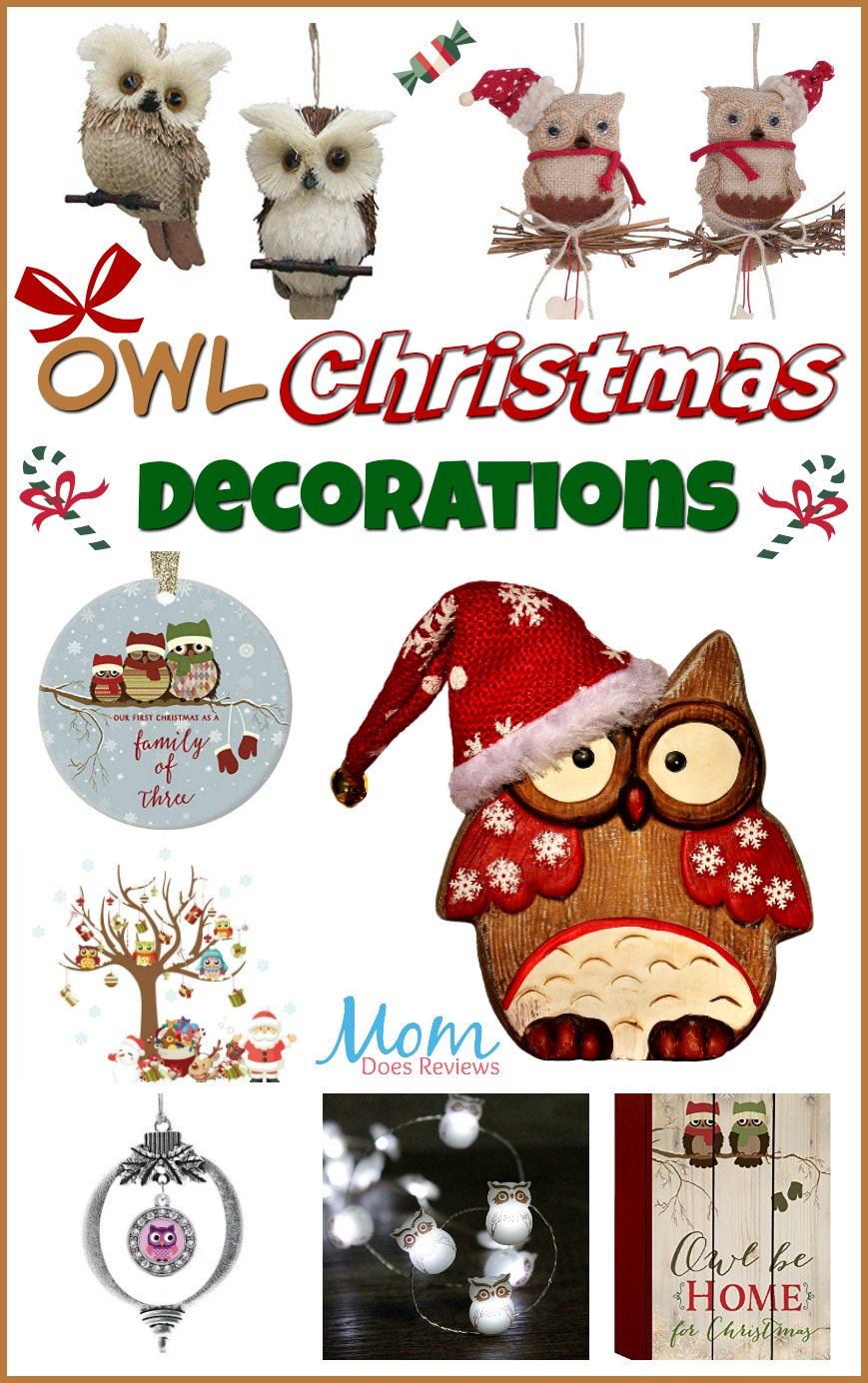 Owl Christmas Decorations #MEGAChristmas18 #owls #christmas #ornaments #stockings