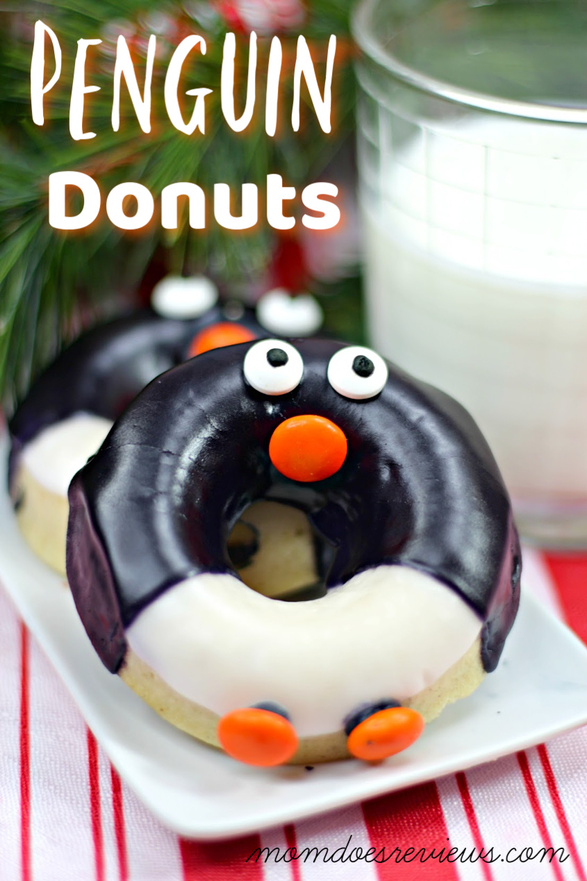 Penguin Donuts #desserts #donuts #christmas #sweets