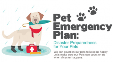 Pet Emergency Plan: Disaster Preparedness for Your Pets #Infographic