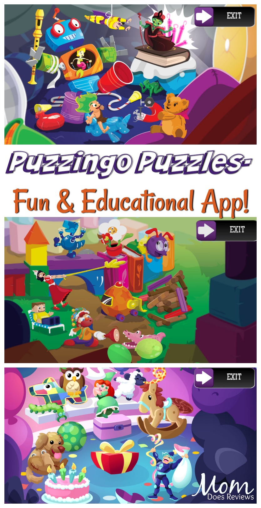 Puzzingo Puzzles- a Fun, Engaging and Educational App! #app #fun #puzzles #educational #learning