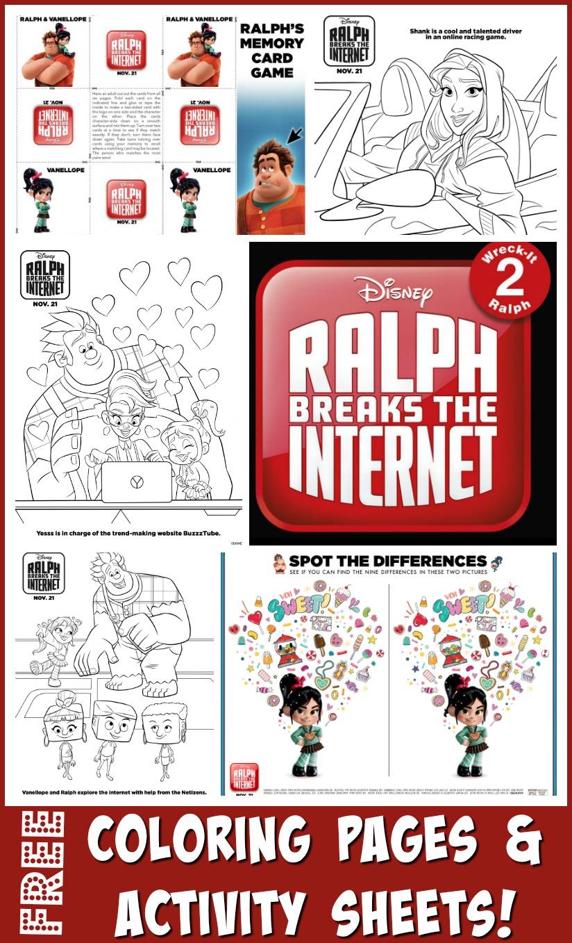 RALPH BREAKS THE INTERNET - Coloring Pages #printables #RalphBreaksTheInternet