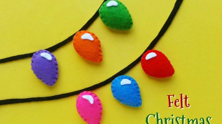 Felt Christmas Lights Craft