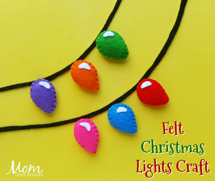 Felt Christmas Lights Craft