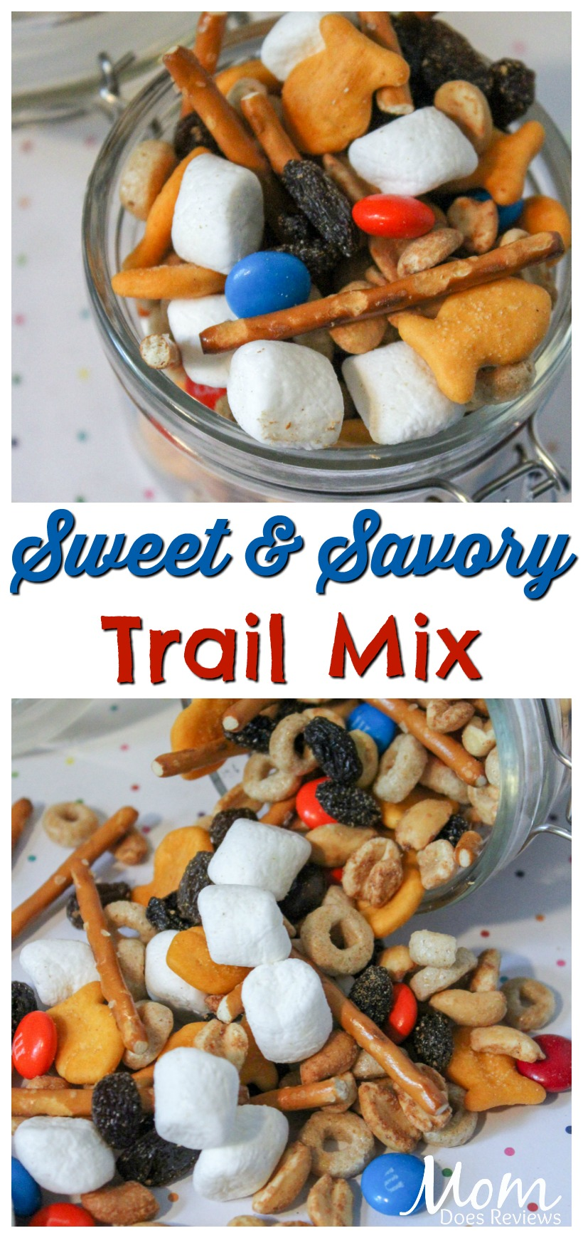 Sweet and Savory Trail Mix #recipe #diy #snacks #foodie