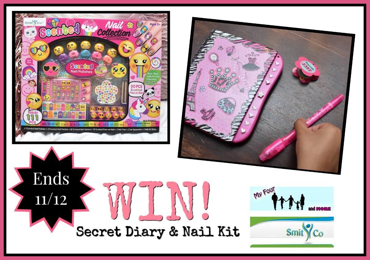 SmitCo Secret Diary and Nail Kit Giveaway