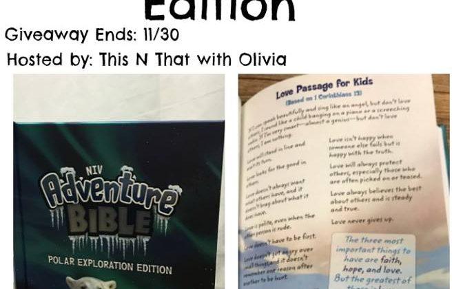 #Win an Adventure Bible Polar Exploration Edition US, ends 11/30