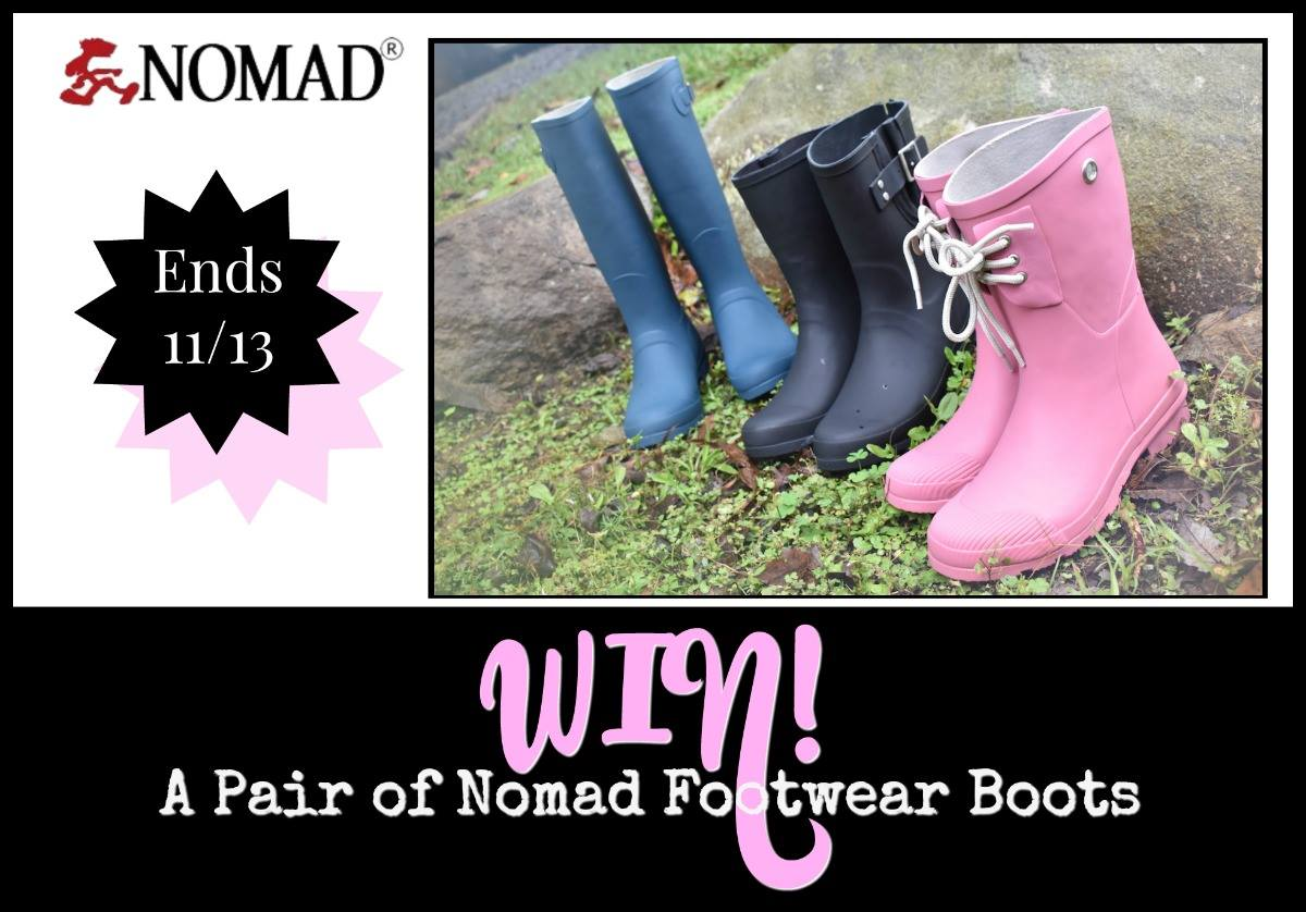 #Win Nomad Footwear Boots ($60 arv) US Only – Ends 11/13