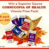 Cornucopia of Health Vitamin Prize Pack (6-pack, arv $95)