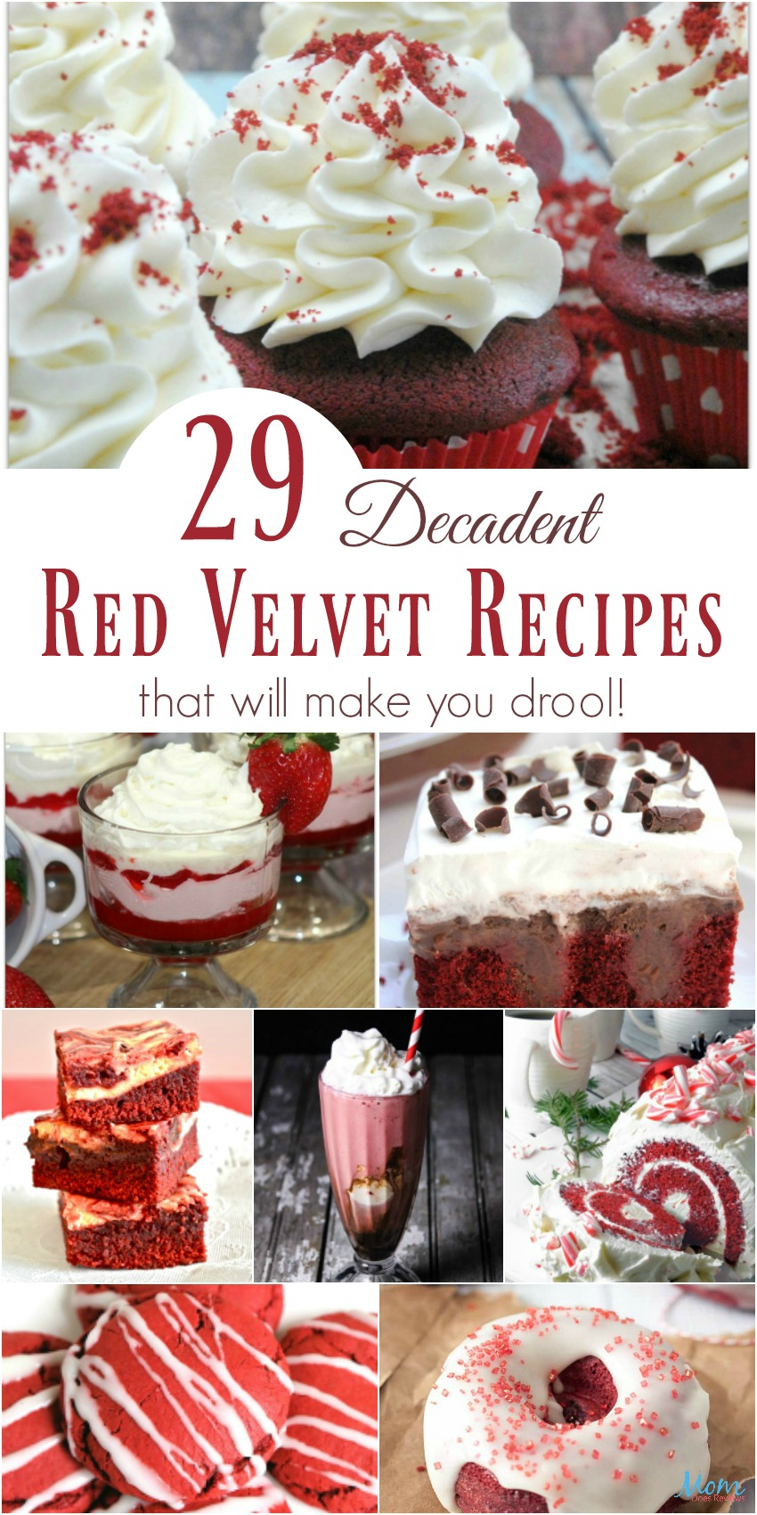 29 Decadent Red Velvet Recipes that will make you Drool #desserts #redvelvet #sweets #recipes #yummy