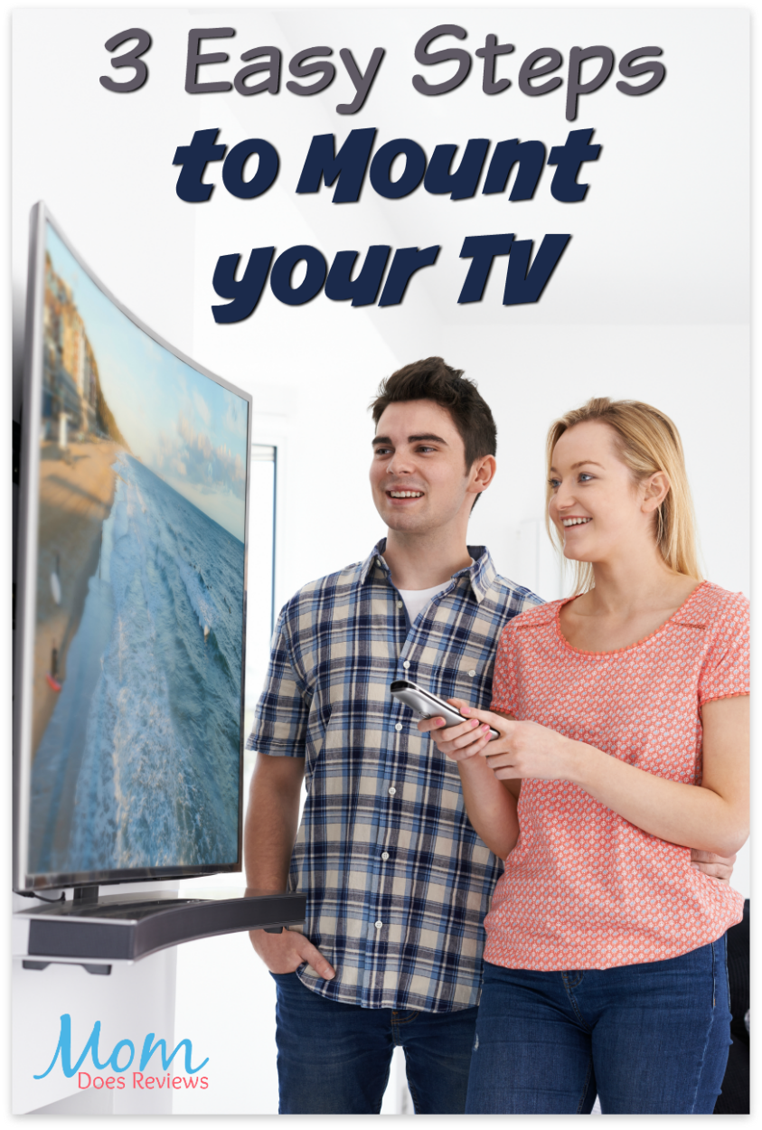 3 Easy Steps to Mount your TV #technology #diy #TV