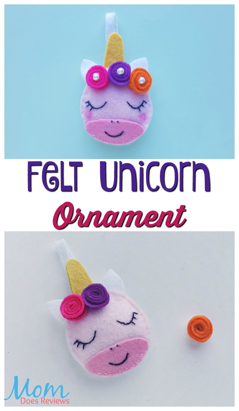 Felt Unicorn Ornament  #christmas #unicorns #crafts