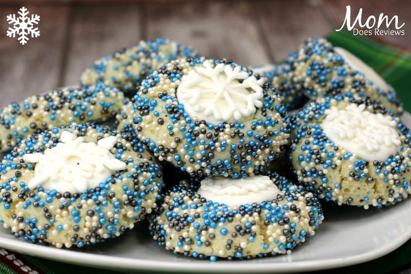 Frozen Snowflake Sprinkle Cookies