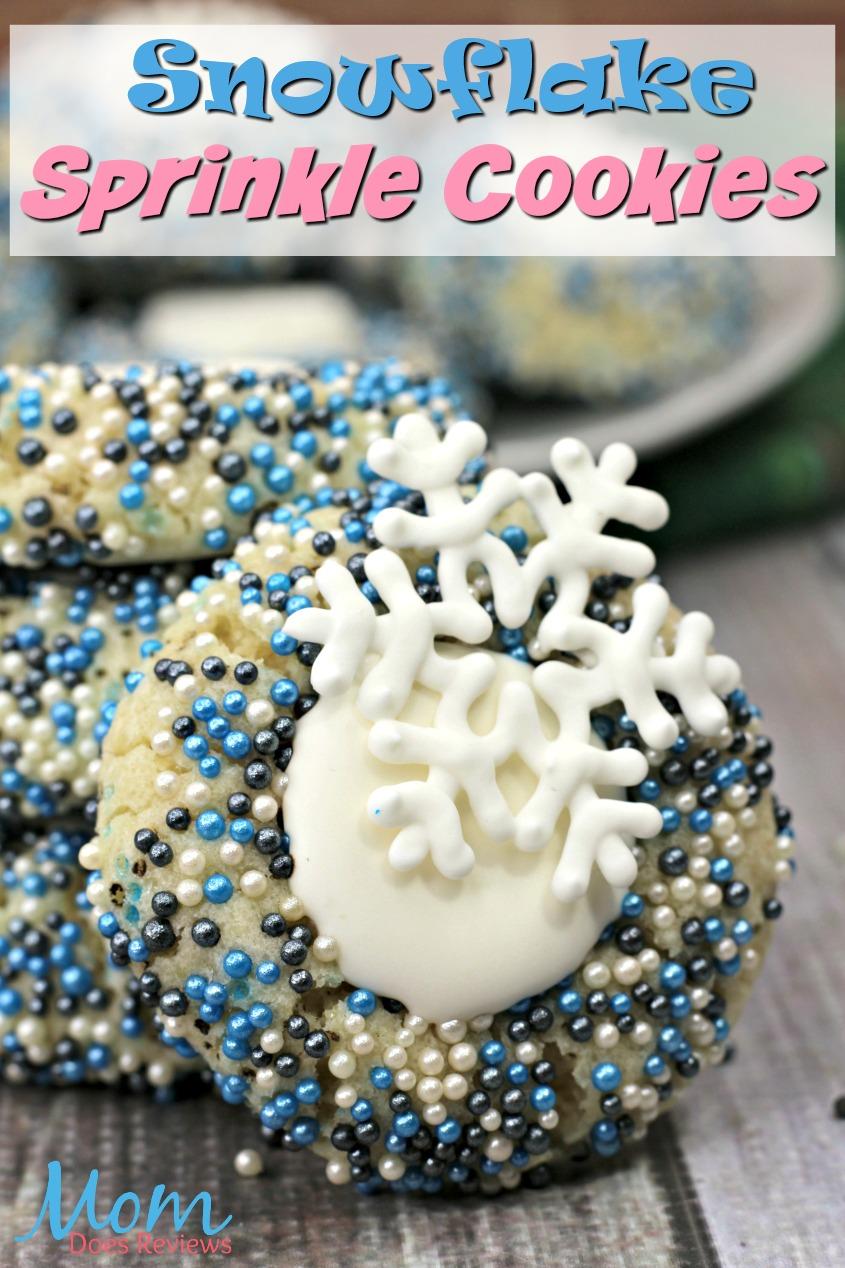 Frozen Snowflake Sprinkle Cookies  #Frozen #disney #cookies #sweettreats