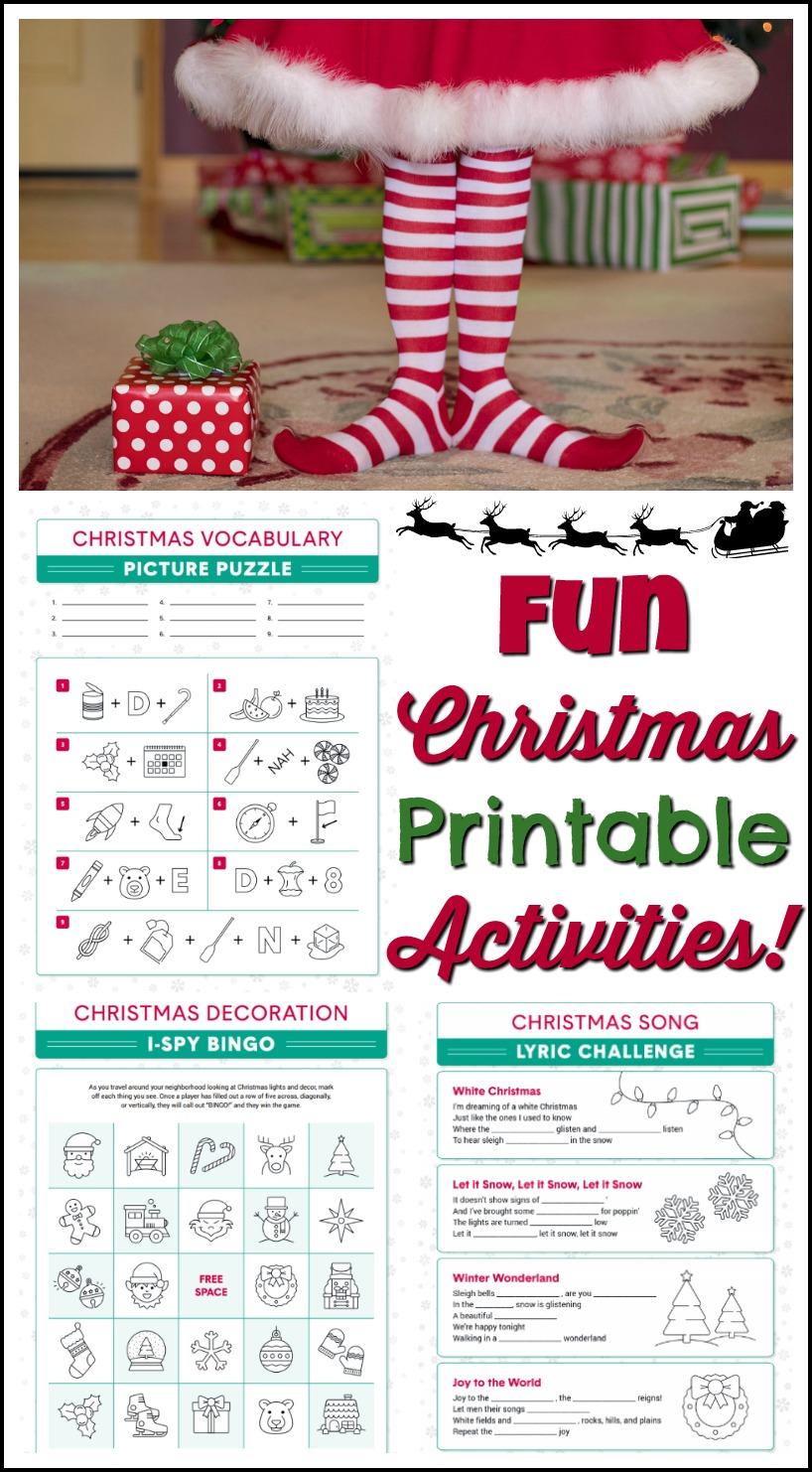 Fun Christmas Printable Activities #FreePrintables #Christmas #printables #activitypages