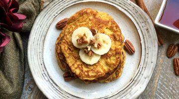Paleo Pumpkin Spice Pancakes