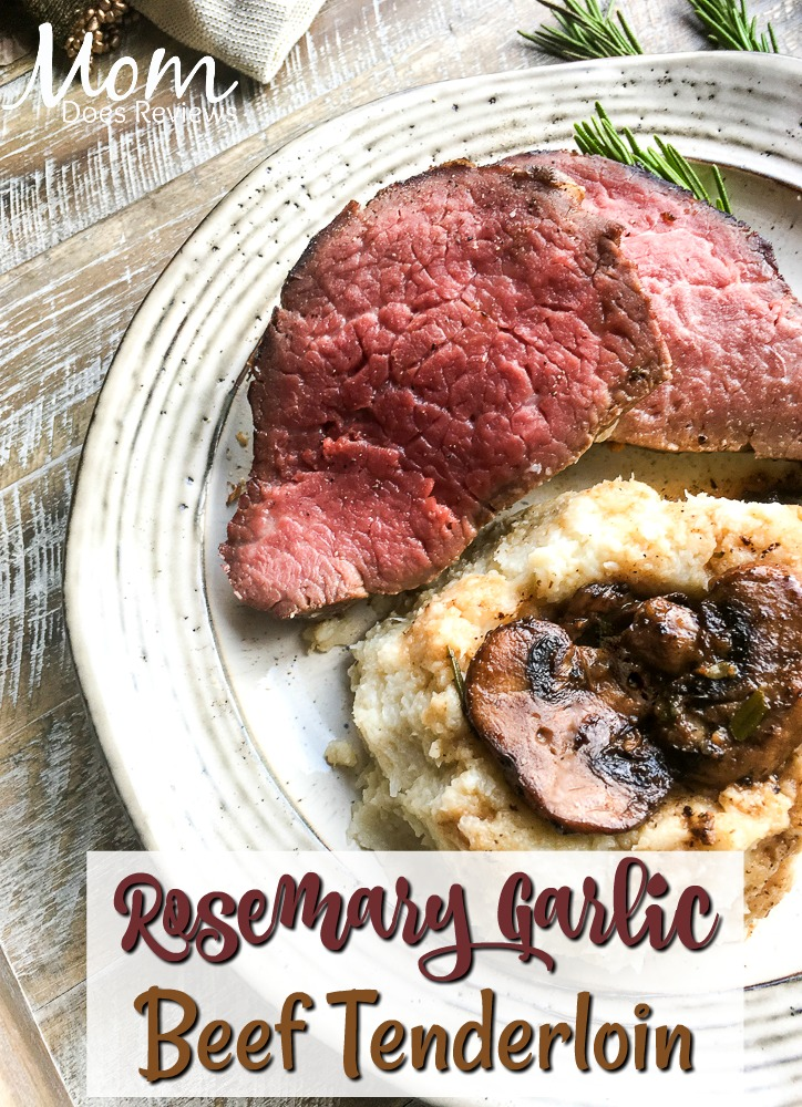 Rosemary Garlic Beef Tenderloin #recipe #beef #getinmybelly #paleo