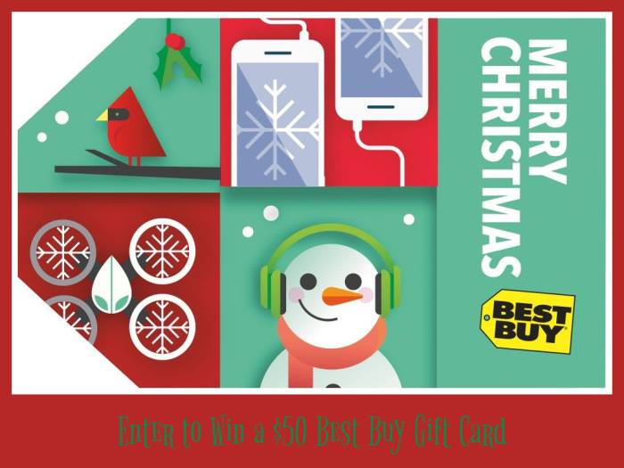 Win $50 Best Buy GC
