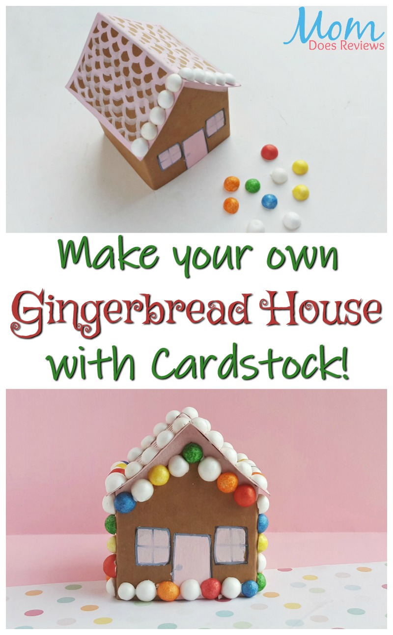 Cardstock Gingerbread House Craft #christmas #craft #diy