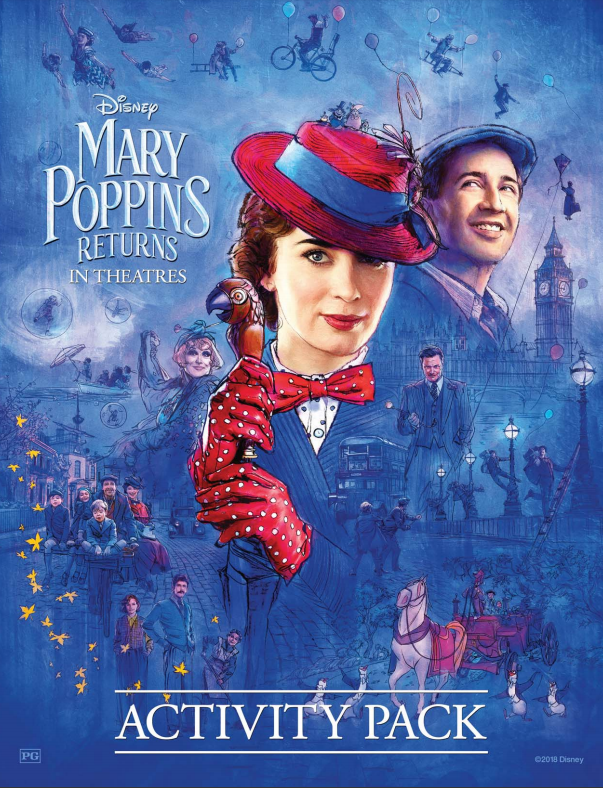 MARY POPPINS RETURNS in theaters NOW- FREE Coloring Pages too! #printables #MaryPoppinsReturns