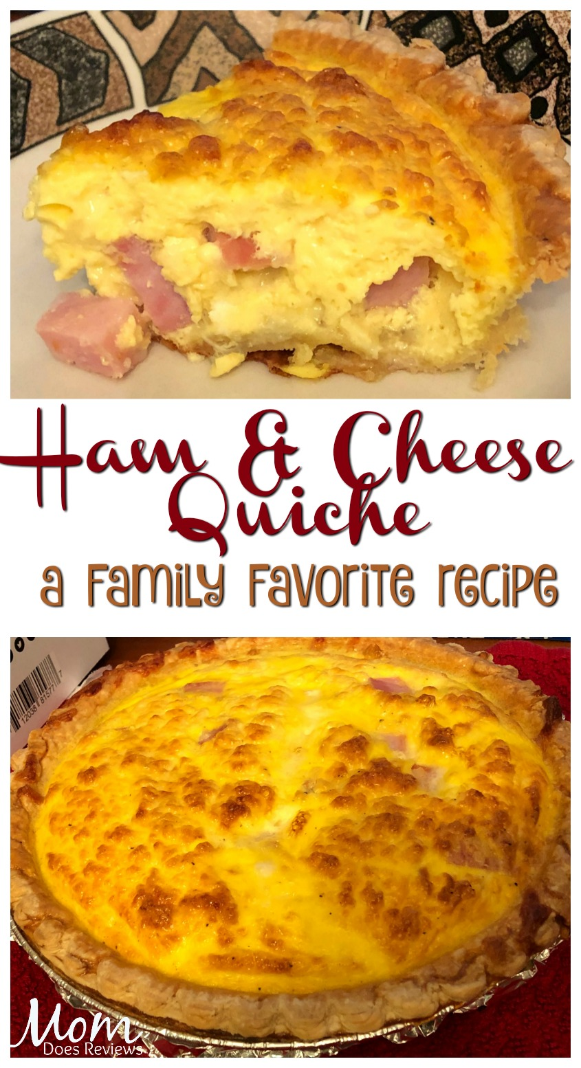 Ham and Cheese Quiche- Family Favorite #recipe #mealthymoms #quiche #getinmybelly